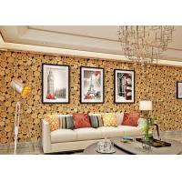 Buy cheap Soundproof Wood 3D Room Wallpaper , 3D Vinyl Wallpaper For TV Background from wholesalers