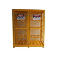 China 8 Shelves Compressed Gas Cylinder Storage Cabinets With 2 Warning Label 72 Inch wholesale