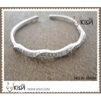 Quality Fashion Jewelry 925 Sterling Silver Bangle with Zircon W-SB004 for sale