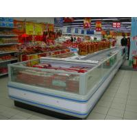 China Refrigeration Condensing Unit Island Display Freezer With Night Curtain wholesale