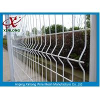 China Galvanized Steel Pipe Fence For Sport Field / Wrought Iron 3d Fence Panel wholesale