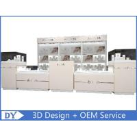 Quality Custom Modern Wood Glass Jewelry Store Fixtures / Jewellery Shop Decoration for sale