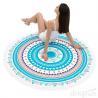 China Round Beach Towel Beach Blanket Large Microfiber Towels Yoga Mat Multi Purpose wholesale