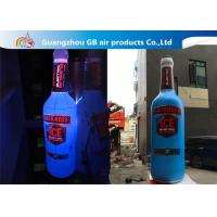 China Giant 5mH PVC Airtight Promotion Inflatable Olmeca Drink Bottle With Led Light wholesale