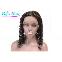 China Black Women Red / Blue Human Hair Lace Front Wigs Without Tangle / Shedding wholesale
