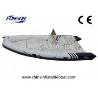 China Motorized V - Shaped Hard Bottom Inflatable Boats 12 Person With CE Approved on sale