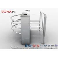China DC 24V Brush Motor Waist High Turnstile , Automatic Systems Turnstiles CE Approved wholesale