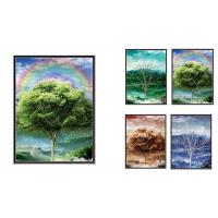 China 30x40cm Beautiful Four Season Trees Lenticular Flip With 0.6mm PET For Home Decoration wholesale