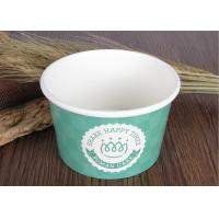 Single Wall Branded Ice Cream Cups Disposable With Eco Freindly Materials