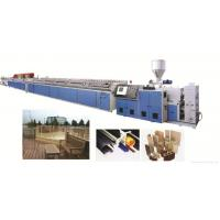 China PVC Wood Plastic WPC Profile Extrusion Line Double Screw Extruder wholesale