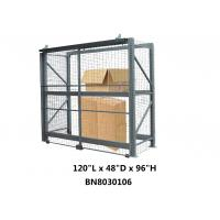 China Heavy Duty Steel Pallet Rack Security Cage Systems 10'*4' *8' High Sliding Door Type wholesale