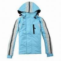 China Hooded children's ski jacket, waterproof and breathable fabric, waterproof zipper wholesale