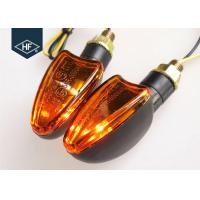 China UTV / ATV Blinker Motorcycle LED Turn Signals , E - Mark Amber Motorcycle Running Lights on sale
