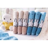 China 74*36cm 100% cotton cartoon MIFFY soft  care breathable face towel and hand towel on sale