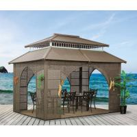 China China garden house outdoor pavilion with sofa garden rattan tents 1115 wholesale