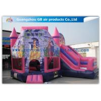China Lovely Pink Princess Inflatable Bouncy Castle Kids Games CE / UL Certification wholesale