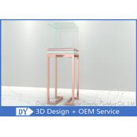 China OEM  Glass Jewelry Pedestal Display Cases / Pedestal Display Cases wholesale