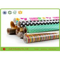 China Metallic Wrapping Paper Roll With Stars / Bows , Decorative Cute Wrapping Paper wholesale