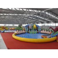 China 25M Waterproof Giant Inflatable Backyark Water Park With Huge Dinosaur wholesale