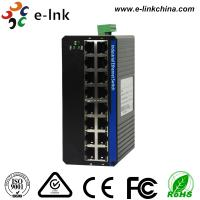 China 16 Port Small Fast Din Rail Ethernet Poe Switch , Hardened Switch FCC Standards wholesale
