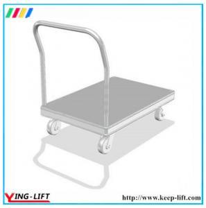 China Rubber Wheel Aluminum Heavy-duty Platform Trolley CF3672 wholesale