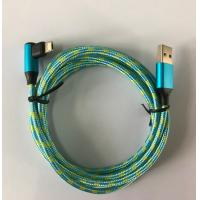 China two colors nylon braids 90 Degree plug  USB To Multi Function Connector wholesale