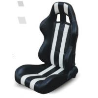 China High performance universal sport car seats / black and white bucket seats wholesale