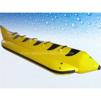 China 0.9mm PVC Tarpaulin Inflatable Water Toys , 4m Inflatable Banana Boat wholesale