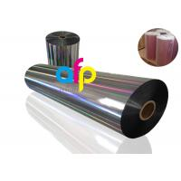 Quality 20 Mic PET Dry Holographic Film Roll, Clear Polyester Film With Rainbow Pattern for sale