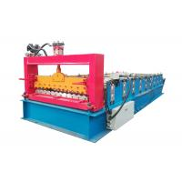 China PPGI Color Steel Roll Forming Machine , Corrugated Roof Sheet Machine With Smooth Feed Plate wholesale