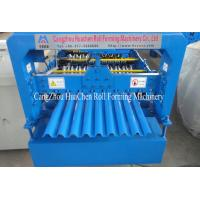 China G550 Mpa Corrugated Roofing Sheet Roll Forming Machine for thickness 0.3mm - 0.6mm wholesale