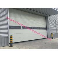 China PU Foaming Automatic Handle Industrial Garage Doors EPS Sandwich Panel Sliding Door For Workshop on sale