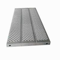 China 1308*595*55mm 9.5kg  Aluminum scaffold baord plank for Haki scaffold wholesale