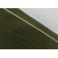 China Woven Army Green Herringbone Flannel Fabric , 12.4oz Denim Raw Material For Jeans wholesale