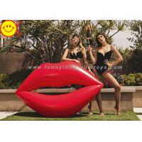 Buy cheap Lip Shape Giant Inflatable Water Floats Water Pool Float Red Color Cool Pool Floats product