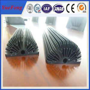 China Hot! Black Anodized Aluminum Sunflower Heatsink, aluminum heat sink extrusion profiles wholesale