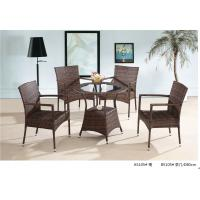 China 2014 China popular pe rattan table chair furniture sets wholesale