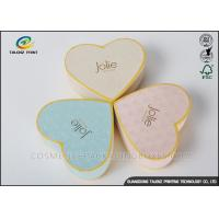 China Heart Appearance Cardboard Jewelry Boxes , Cardboard Candy Boxes Eye Catching wholesale