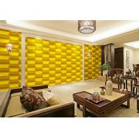 China Empaistic 3D Home Decal  Natural Fiber Wallpaper , Modern Colored 3D Wall Sticker wholesale