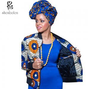 China Batik Printing Warm Lining Winter African Ladies Jackets Rib Zipper Front wholesale