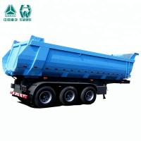 China Multi Color Steel Tipping Trailer / High Strength 3 Axle Tipper Trailer wholesale
