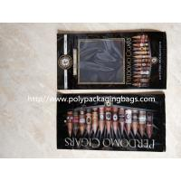 Moisture Proof Gravure Printing Plastic Cigar Packaging Bag , 6mm Diameter