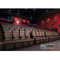 China 4D Cinema 4D Movie Theatre Equipment With Motion Chair 3 / 4 / 5 Seats A Set wholesale