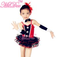 Buy cheap Children'S Dance Clothes Black Red Sequin Tutu Skirt  For Solo Performance product
