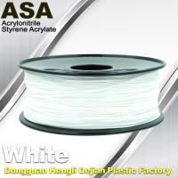 China ASA 3D Printer Filament Ultraviolet Resist 1.75 / 3.0mm Black White Colors wholesale