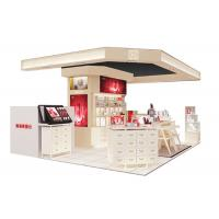 China Beautiful Modern Cosmetic Display Case / Makeup Display Shelves Cream Coating Color wholesale
