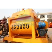 China High Automation Js2000 Twin Shaft Concrete Mixer Machine With Electric Engine on sale