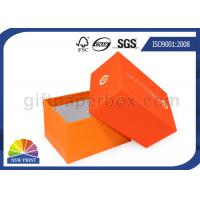 Quality Fashion 2 Piece Full Color Printed Setup Boxes Jewelry Gift Box Orange for sale