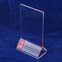China A3 / A4 Transparent Tabletop Acrylic Menu Holder Triangle for Cafe Bar wholesale