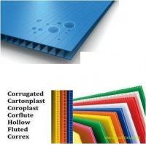 Decorative Anti - UV Plastic PP Hollow Board Coroplast Sheets 4mm / 5mm / 6mm